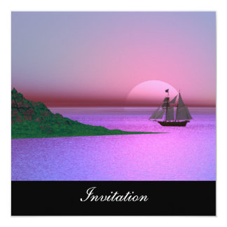 New Purple Popular Invitation Ship