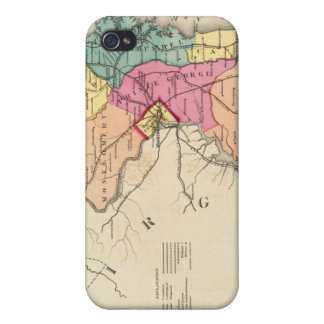 New railroad map of the states of Maryland iPhone 4 Cases
