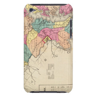 New railroad map of the states of Maryland iPod Touch Case
