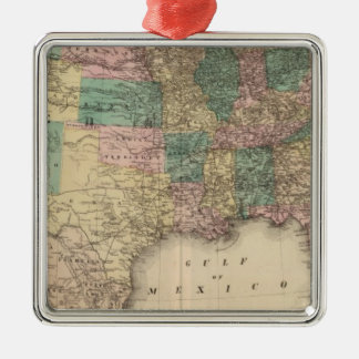 New railroad map of the United States 3 Christmas Ornament