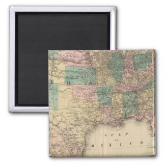 New railroad map of the United States 3 Magnet