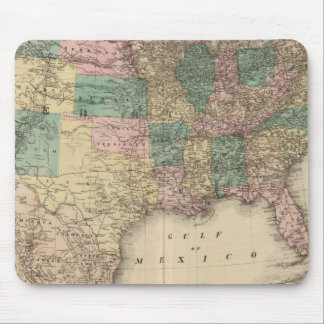 New railroad map of the United States 3 Mouse Mat