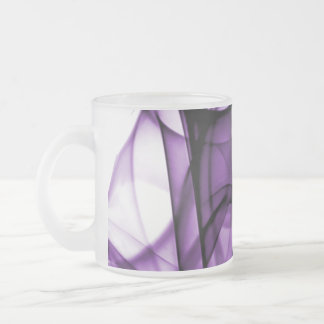 New Rainbow Waves Collection - Purple Wave Frosted Glass Mug