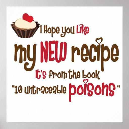 New recipe poster