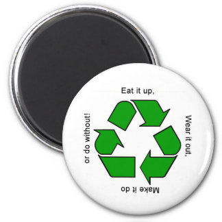 New Recycle Motto Products 6 Cm Round Magnet