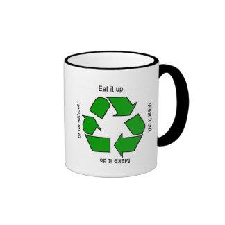 New Recycle Motto Ringer Mug