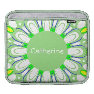New Retro Mint Green Monogram iPad Sleeve Case