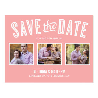NEW RETRO | SAVE THE DATE ANNOUNCEMENT POSTCARD