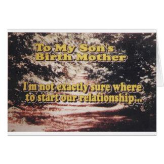New Reunion - Adoptive Parent to Birth Parent Greeting Card