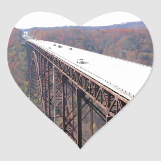 New River Highway Heart Sticker