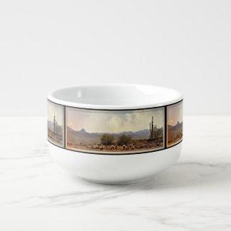 New River Landscape Soup Mug