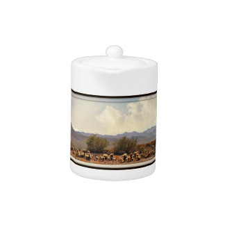 New River Landscape Tea Pot