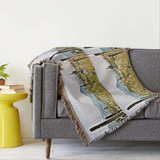 New River Landscape Throw Blanket