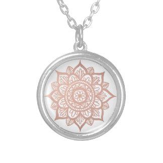 New Rose Gold Mandala Necklace
