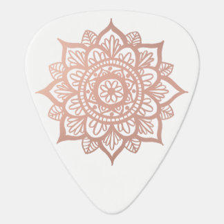 New Rose Gold Mandala Plectrum