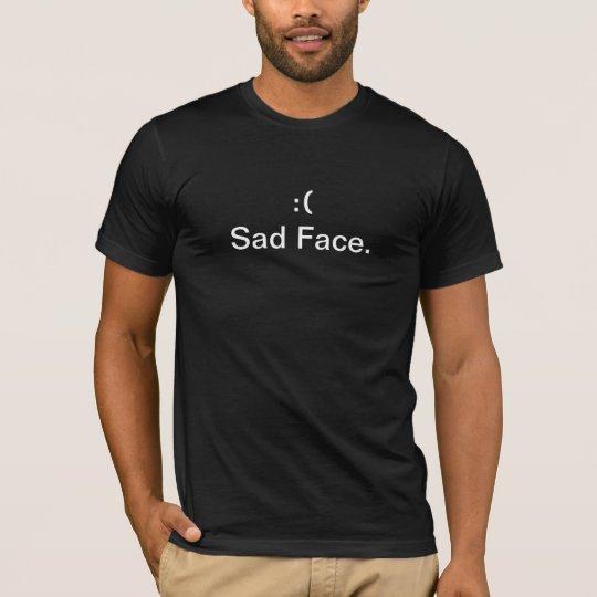 NEW Sad Face T-shirt BLACK