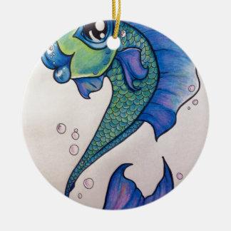 New school angel fishimage.jpg round ceramic decoration