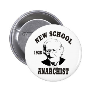 New School - Noam Chomsky 6 Cm Round Badge