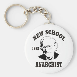 New School - Noam Chomsky Basic Round Button Key Ring