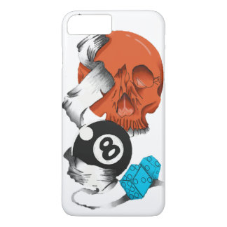 new school style, skulls, skulls, skate style, iPhone 8 plus/7 plus case