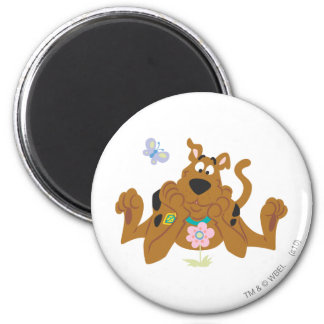 New Scooby Doo Review Pose 40 6 Cm Round Magnet