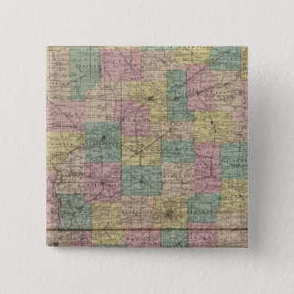 New sectional and township map of Indiana 15 Cm Square Badge