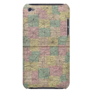 New sectional and township map of Indiana iPod Touch Case-Mate Case
