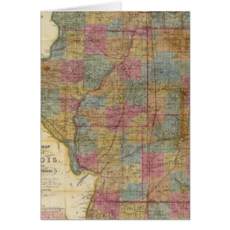 New sectional map of the state of Illinois 2 Card