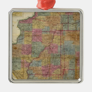 New sectional map of the state of Illinois 2 Christmas Ornament