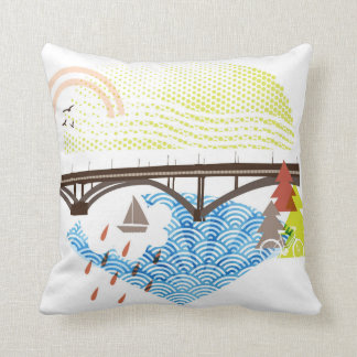 New Sellwood Bridge Pillow Portland Oregon