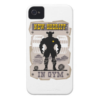 new sheriff in gym iPhone 4 cover