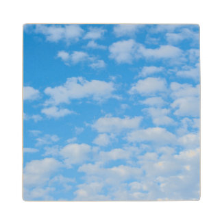 New Smyrna Beach, cumulus clouds Wood Coaster