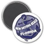New Smyrna Beach Florida anchor swirl magnet
