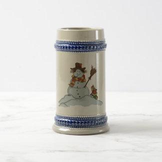 new snowman holiday beer stein coffee mugs