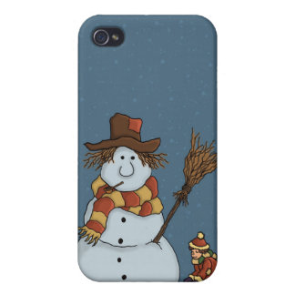 new snowman iPhone4 speckcase Case For iPhone 4