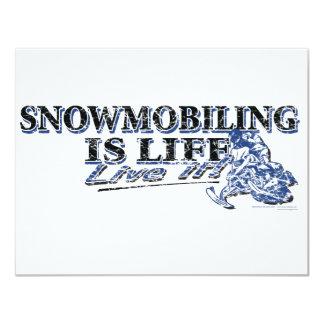 NEW-SNOWMOBILING-IS-LIFE-DIS 11 CM X 14 CM INVITATION CARD