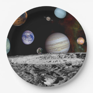 New Solar System Paper Plate