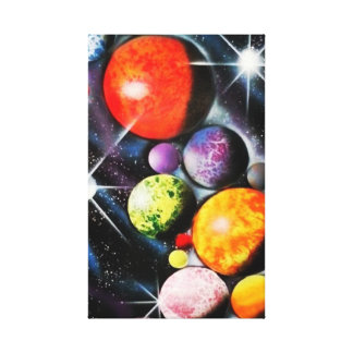 New Space Age Stretched Canvas Prints
