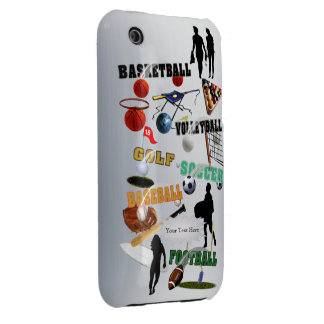 New Sports Collage iPhone 3/3GS Barely There Case