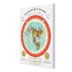 New Standard Map of the World Flat Earth Earther Canvas Print