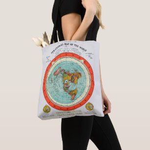 New Standard Map of the World Flat Earth Earther Tote Bag