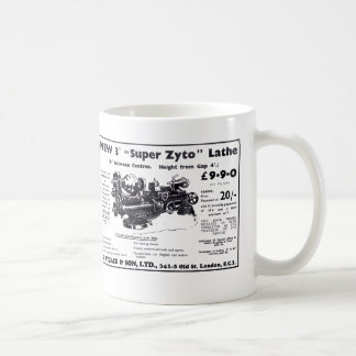 New Super Zyto Lathe Avert 1930's Coffee Mug