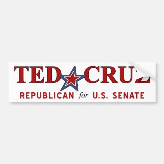 NEW - Ted Cruz Texas US Senate Bumper Sticker