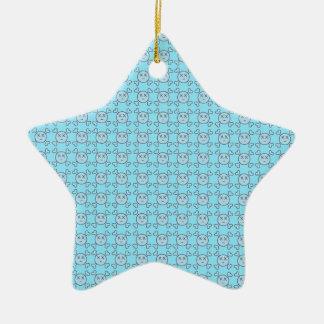 new textura celeste de Cráneos love Christmas Ornament
