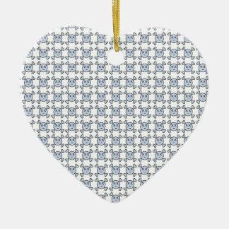 new textura de Cráneo Ceramic Heart Decoration