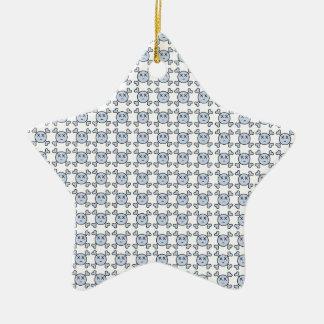 new textura de Cráneo Ceramic Star Decoration
