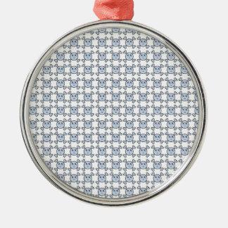new textura de Cráneo Silver-Colored Round Decoration