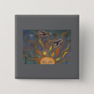 New Thoughts Take Flight 15 Cm Square Badge