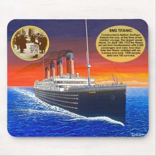 New Titanic mouse pad