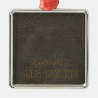 New topographical atlas and gazetteer of Indiana Christmas Ornament